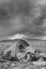 Shelter From The Storm (gpa.1001) Tags: california easternsierras owensvalley keeler blackandwhite bw