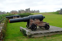 Double barrelled (zawtowers) Tags: cornwall kernow summer holiday break vacation july 2017 pendennis castle falmouth english heritage cloudy afternoon sunday 16th historic site monument guns cannon coastal defence overlooking sea