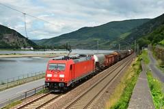 DBC 185 301, Assmannshausen (Sander Brands) Tags: trein treni treno trenuri züg züge güterzug rhein rheintal strecke kbs bombardier rail uc unit cargo 185