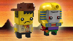 Johnny Thunder and Pharaoh Hotep (Oky - Space Ranger) Tags: classic lego racers brickheadz adventurers johnny thunder pharaoh hotep mummy egypt desert