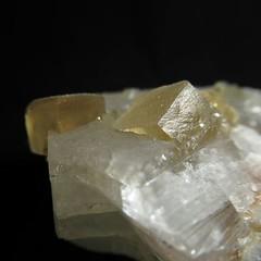 Кристаллы медового кальцита на апофиллите (Каталог Минералов) Tags: минералы камень кристаллы медового кальцита на апофиллите mineral stone