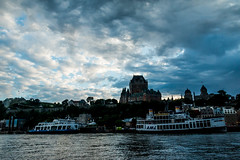 In front of head office (langdon10) Tags: canada canon70d chateaufrontenac oldquebec quebec ship shoreline stlawrenceriver clouds outdoors