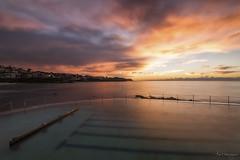 Orangina (Crouchy69) Tags: sunrise dawn landscape seascape ocean sea water coast clouds sky reflection bronte beach pool sydney australia