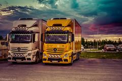 NSA V (johan.bergenstrahle) Tags: 2017 finepics umeå evening fordon hdr juli july kväll lastbil långtid mercedes nsa sverige sweden truck vehicle