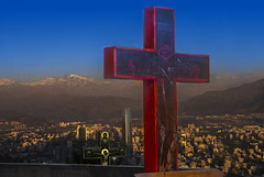 LOS ANDES AL DENTRO DE SANTIAGO DE CHILE (小珂风行遏沙) Tags: ifttt 500px sky landscape travel religion cross church road cemetery mountain god holy outdoors prayer spirituality salvation sacrifice crucifixion no person urban easter resurrection dusk ciudad chile catholic