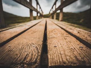 Wooden bridge in Glen Coe