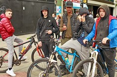 Piccadilly Youth (Mick Steff) Tags: manchester youth urban street gang male bike people