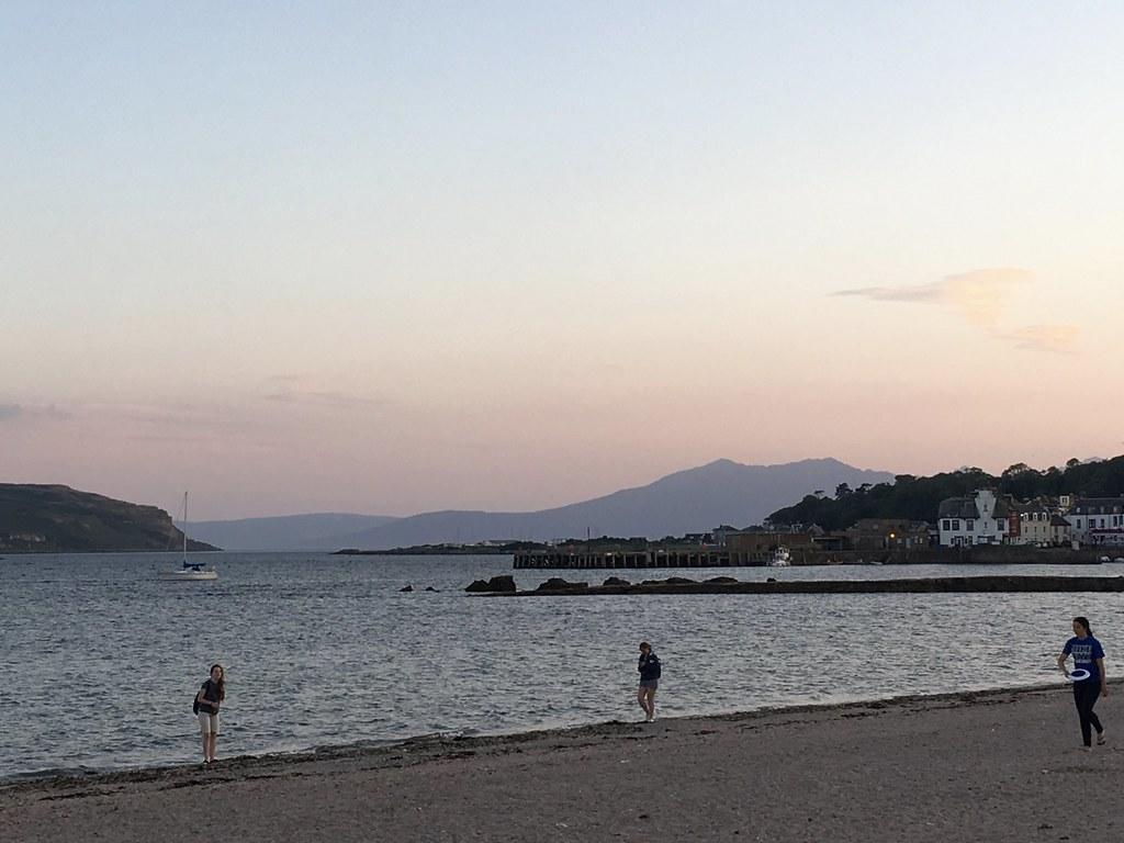 Arran hills at dusk