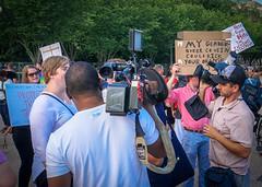 2017.07.26 Protest Trans Military Ban, White House, Washington DC USA 7618