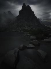 Dark adrenaline (C☺rsica) (Mathulak) Tags: lacdemelu melu melo corsica corse longexposure mathulak mountain lake restonica vallée rocks darkness mystic