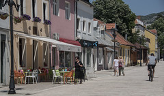 street (=Mirjam=) Tags: nikond750 centinj mainstreet montenegro colourful houses windows street cyclist roadtrip traveling juni 2017