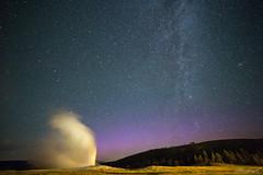 Starry Eruption (trumansnare) Tags: yellowstone national park old faithful geyser milky way stars night astro galaxy canon 6d rokinon 14mm wyoming montana