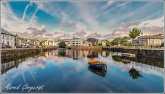 Galway, Irlande (reko22) Tags: galway irlande miroir nuage bateau reflet