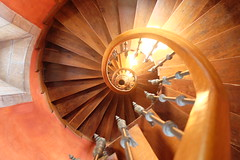 Round and round we go (Seabagg) Tags: spiral staircase castillodearteaga