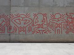 Haring Detail II (aestheticsofcrisis) Tags: street art urban interventions streetart urbanart guerillaart graffiti postgraffiti barcelona spain raval europe keith haring