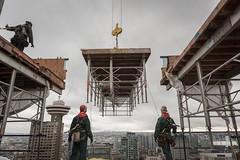 Vancouver BC - Exchange Tower (19) (doublevision_photography) Tags: vancouver vancouvercity vancouverrealestate vancouverbc vancouverskyline vancity vancouvercanada jasocrane constructioncrane vancouverconstruction roofing vancouverroofing contruction towercranephotography flyingtables tableflying