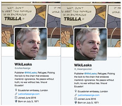Julian Assange Impostor Accounts: Report to Twitter for impersonation and block /r/WikiLeaks http://ift.tt/2uIM9Fm http://ift.tt/2vsgGVG (#B4DBUG5) Tags: b4dbug5 shapeshifting 2017says