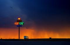 Impending Storm ...Love's Truck Plaza, Sidney Nebraska (nelhiebelv) Tags: loves truck stop sidney nebraska sunset dark storm