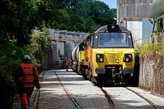Ta Mac (or Thanks Pal) (Richie B.) Tags: 6c35 tarmac moorswater cement works liskeard cornwall colas rail general electric powerhaul class 70 70805