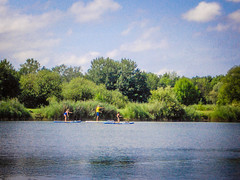 Stand up and paddle (gernot.glaeser) Tags: blue clouds colours green landscape nature people seasons sky summer water deu 365project project365 lowersaxony sports