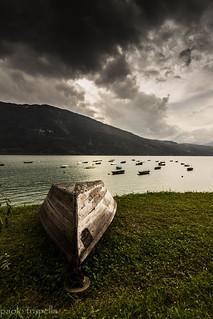 nel lago di santa croce