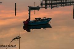 la barca a riposo! (paolotrapella) Tags: boat barca sunset tramonto acqua water