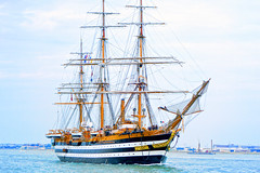 """Amerigo Vespucci, """"the most beautiful ship in the world"""" (Brooks Payne) Tags: geotagged boston brooks brooksbos castleisland fortindependence ship boat southboston tallship tallships amerigovespucci sony rx100 rx100m2"""