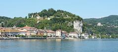 Arona (ccarl_03) Tags: italy italia water boats arona angera houses buildings mountain castle rocca