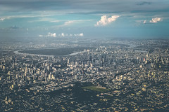 Bangkok City - From the Air (livingsta) Tags: aerialphotography iphoneography city cityscape skyline bangkok thailand seasia fromtheair mobilephotography se asia colours aerial throughtheflightwindow windowseat skyscrapers architecture architecturalphotography citylife iphone7 iphone7plus shotwithiphone