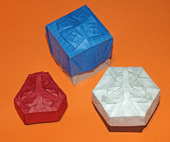 Tessellation boxes (mganans) Tags: origami tessellation box