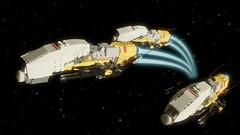 On patrol (Sunder_59) Tags: lego moc render blender3d mecabricks scifi space spaceship spacecraft fighter starship starfighter military