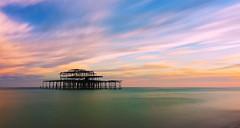 Pastel Pier (Solent Poster) Tags: brighton west pier july 2017 pentax 2470mm k1 seascape sunset sunrise long exposure pastel