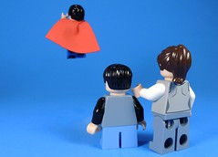 Your Father is a Hero (MrKjito) Tags: lego minifig super hero comic dc superman lois lane john kent clark action comics man steel fly father