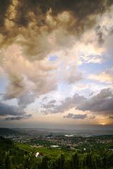 rain in the city (Marc R. A.) Tags: rain city clouds landscape cityscape rotenberg stuttgart wolken stadt sonnenunterganag a7r2 zeiss batis25