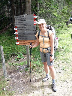 Edita back at our start point near Schluderbach Carbonin