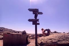 Shelter, arrows, map and rock (egotoagrimi) Tags: aegean greece ammoudia plateau hikingtrails ικαρία αμμούδια map mountainshelter hikingsign ορεινόκαταφύγιο
