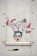Poster (Daquella manera) Tags: washingtondc street art arte callejero paste up leg legs shoe shoes red