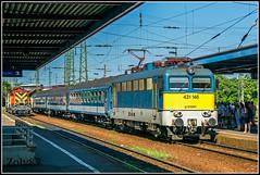 431 146 (V43 1146) (Zoly060-DA) Tags: hungary debrecen railway station mav bo electric locomotive passenger train service lines rails carriges blue yellow green red white grey ganz