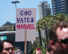 Marvel. Sin. Death. (RICHARD OSTROM) Tags: sd sdcc summer street sandiego gaslamp war dslr fans epic afternoon america art all california fight hero heroes hard signs game food gore horror july
