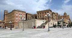 On the panoramic terrace of Cagliari, Sardinia (Sokleine) Tags: history heritage architecture citycentre buildings cagliari sardaigne sardegna sardinia italia italy italie panorama terrasepanoramique bastion castello bastionsaintrémy