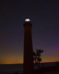 Little Sable Point Lighthouse (John Rothwell) Tags: little sable point lighthouse littlesablepointlighthouse hart silverlake michigan beach greatlakes lakemichigan night stars