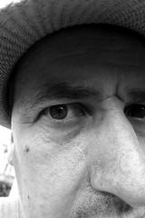 Shelter from the Sun (Jon Pinder) Tags: canon powershot s100 self portrait blackandwhite bw