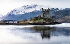The winter castle. (lawrencecornell25) Tags: landscape waterscape scenery scotland scottishhighlands castle eileandonancastle lochduich winter snow cold nikond4