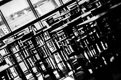 You're the Only Thing I Want Anymore (Thomas Hawk) Tags: america dallas texas unitedstates unitedstatesofamerica airport bw chairs