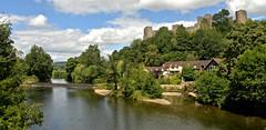 RIVER TEME AND LUDLOW CASTLE (chris .p) Tags: nikon d619 view lodlow castle shropshire uk summer 2017 riverteme capture history july landscape