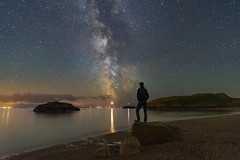 'Summer Stargazing' - Llanddwyn Island, Anglesey (Kristofer Williams) Tags: night sky stars nightscape landscape seascape selfie figure stargazer milkyway beach coast llanddwynisland newborough anglesey porthyclochydd island wales northwales summer astro astrophotography