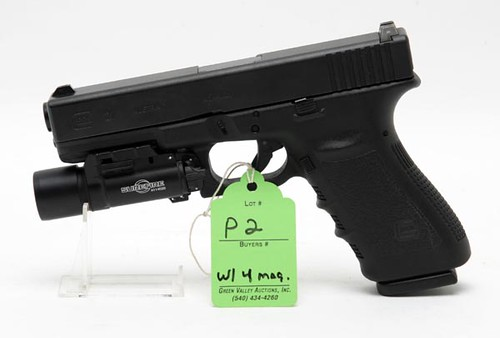 Glock 21 - Gen. 3 - .45 Caliber Semi-Automatic Pistol w/ Surefire x300 Light and 4 Magazines ($504.00)