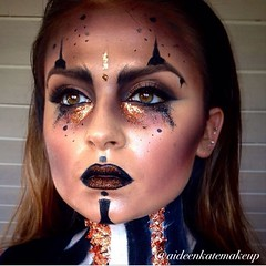 Makeup by @aideenkatemakeup (ineedhalloweenideas) Tags: ineedhalloweenideas halloween makeup make up ideas for 2017 happy october 31 autumn fall spooky body paint art creepy scary pumpkin boo artist