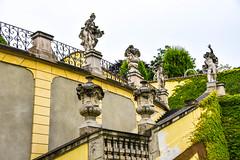 Prague garden (jmarnaud) Tags: czech prague 2017 summer garden statue walk mala strana