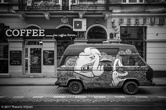 Krakow Graffiti (Theunis Viljoen LRPS) Tags: graffiti karmelicka krakow poland campervan coffee
